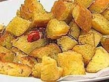 Würzige Croutons - Rezept