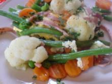 Spiegelei-Pfanne mit Gemüse und Schinken - Rezept