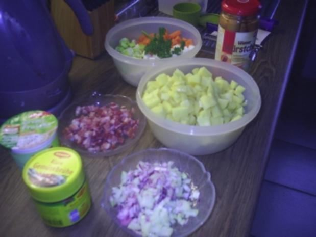 Suppe - deftige Kartoffelsuppe - Rezept - Bild Nr. 2