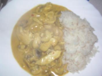 Huhn in Curry-Frischkäse-Sauce - Rezept