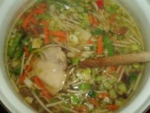 Hühnersuppe - asiatisch angehaucht - Rezept