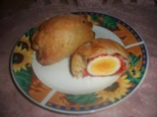 Eier in Blätterteig - Rezept