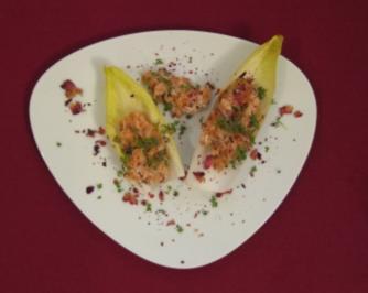 Ingwer-Lachs-Tatar an Chicoree - Rezept