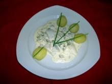 Matjes-Salat  mit Pellkartoffeln - Rezept