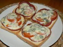 "überbackenes Toast ""Gorgonzola"" - Rezept"