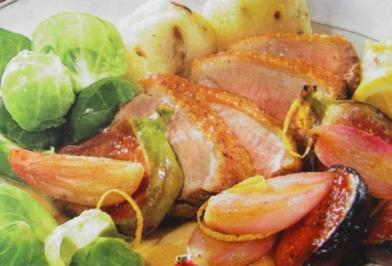 Fleisch - Gerichte : Entenbrust mit Schalottengemüse - Rezept - Bild Nr. 2