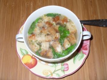 Klare Knoblauchsuppe - Rezept