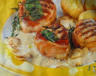 Fleisch - Gerichte : Schweine - Medaillons an Cognac-Rahmsoße - Rezept
