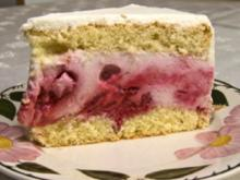 Joghurt-Himbeer-Torte - Rezept