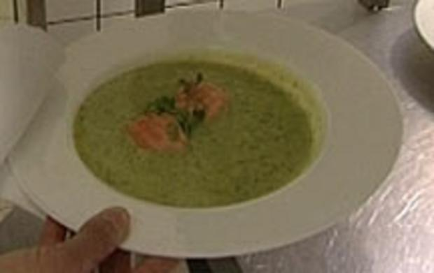 Frühling-Rahmsuppe mit Wildlachs - Rezept