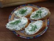Kräuterfrischkäse auf Baguette - Rezept