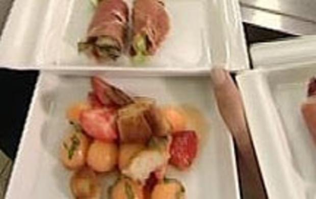 Erdbeer-Melonen-Salat mit Serranoschinken (Barbara Eligmann) - Rezept