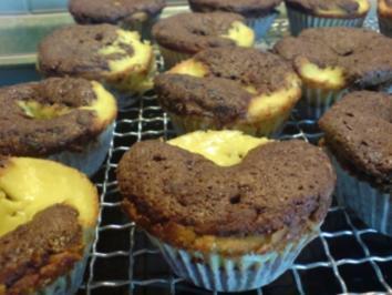 "Muffins ""Schoko-Käsekuchen"" - Rezept"