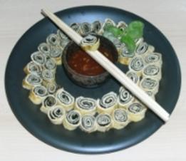 Nori Sushi mit würzigem Omelett - Rezept