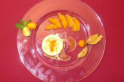 Orangenpudding - Pudim de laranja - Rezept