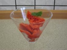 Zitronen-Erdbeersorbet - Rezept