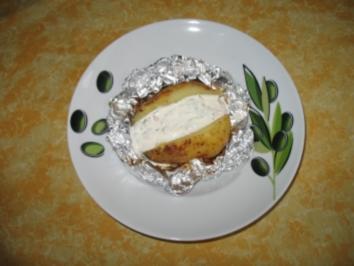 Folienkartoffeln mit buntem Quark - Rezept