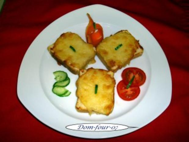 Käsebrot gebacken mit Pfiff - Rezept