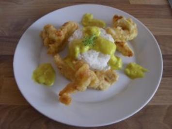 Curry-Hühnchen im Knuspermantel - Rezept