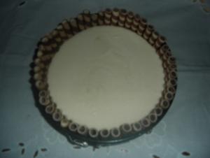 Schokoröllchen-Torte mit Apfelmus - Rezept