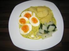 Eier in Curry-Kräutersoße - Rezept