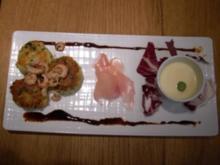 Frikadellen aus Edelfischen und Nordseekrabben an Wasabi-Eis - Rezept