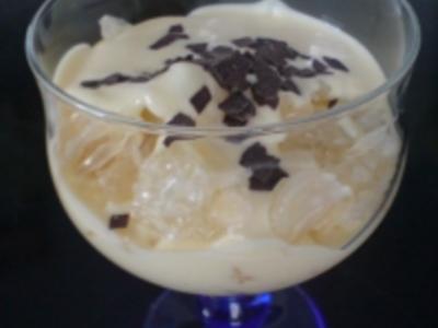 Vanille-Joghurt mit Pomelo - Rezept