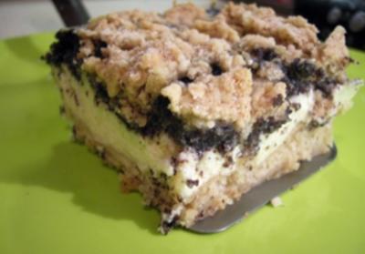 Kuchen: Mohn-Apfel-Topfen-Streusel - Rezept