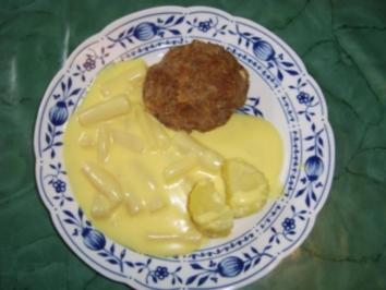 Schwarzwurzel mit Hollandaise und Bouletten - Rezept