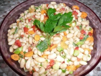 Griechischer Bohnensalat - Rezept