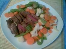 Hüftsteak mit Gemüse - Rezept