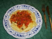 Zucchini-Penne mit Peperonigekrümmele - Rezept