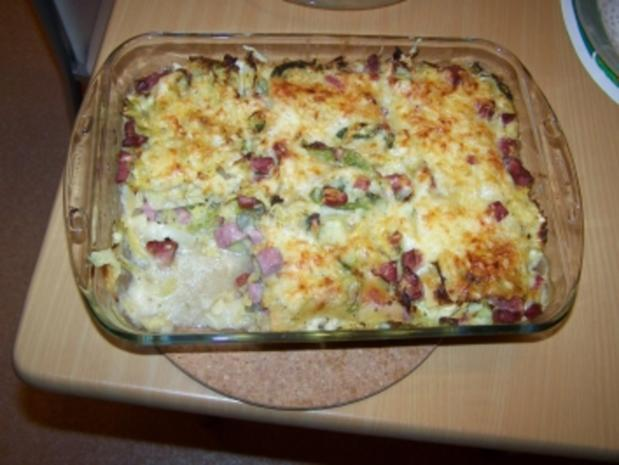Wirsing Kasseler Lasagne - Rezept