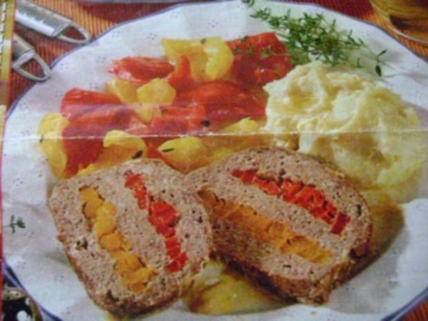 Paprika- Hackbraten - Rezept