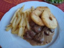 *Hauptgericht Fleisch - Bierfleisch mit Kümmel und Apfelscheiben - Rezept
