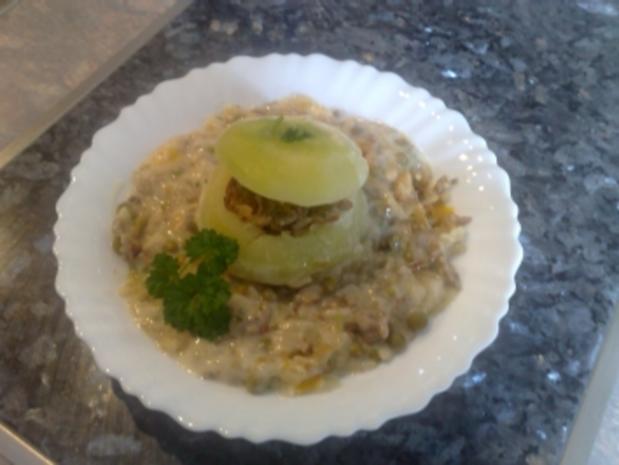 Gefüllte Kohlrabi mit Reis - Rezept