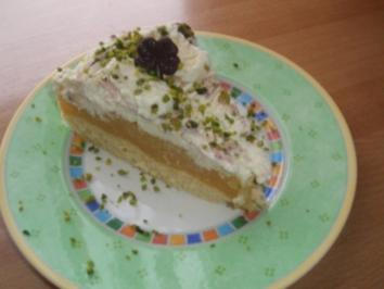Mascarpone-Apfelfrucht-Sahne-Torte - Rezept