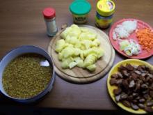 Linsentopf mit Bratwürstchen - Rezept