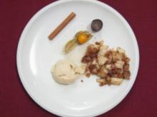 Birnenauflauf mit Makronen an Eis - Poires aux macarons - Rezept