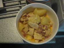 Pasta mit Huhn und mariniertem Knoblauch - Rezept
