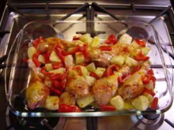 Rezept: Hühnerbeine aus dem Ofen