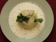 Möpse gefüllt mit Büffelmozzarella in Kaffee-Oliven-Sirup (Lory Glory) - Rezept