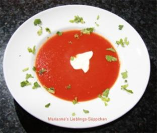 Schnelles Tomaten-Süppchen - Rezept