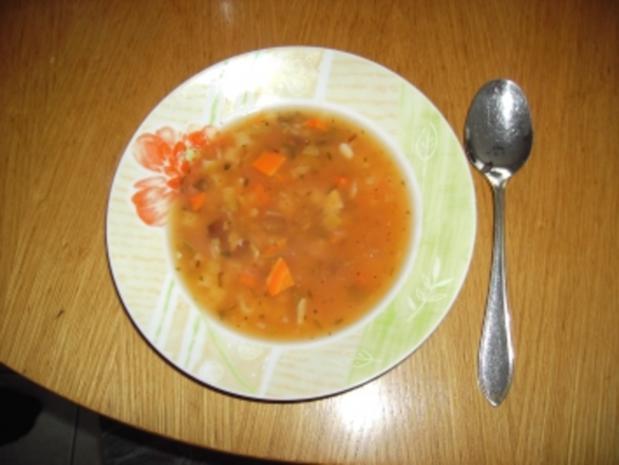 Minestrone ( Deftige Suppe ) - Rezept
