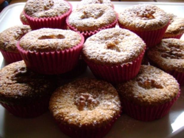 Muffins: Walnuss Kirsch Muffins - Rezept