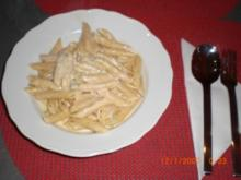 Nudeln (Penne) in Gorgonzolasoße - Rezept