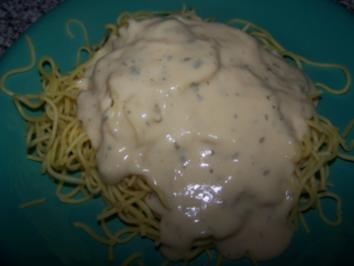 Spaghetti mit einer Käsesahnesosse ala sonni - Rezept