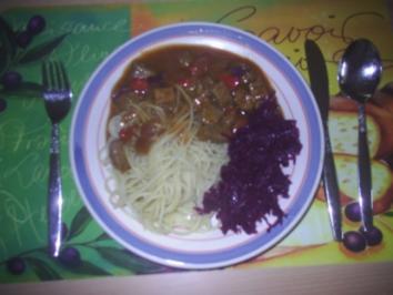 Fleisch - Gulasch - Rezept