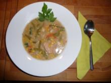 Hühnersuppe mit Mais & Bohnen - Rezept