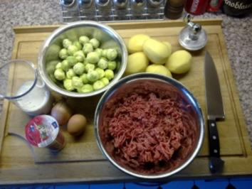 Mein Rosenkohlauflauf mit Fleischbällchen - Rezept